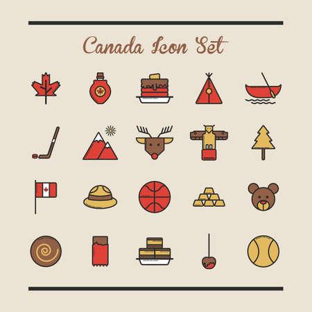 canada icon set Çizim