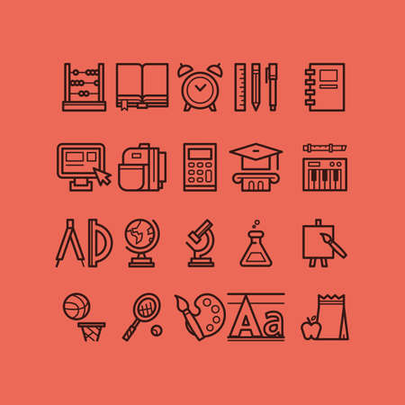 collection of education icons Ilustracja