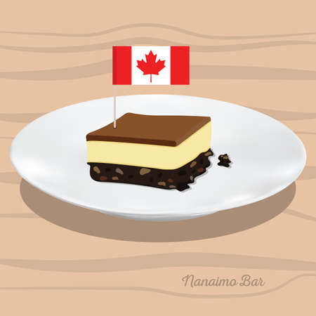 toothpick: Nanaimo bar Illustration