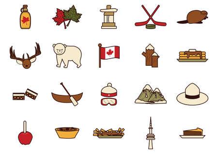Kanada icon set Standard-Bild - 81533506