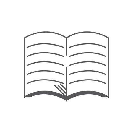 open notebook Ilustrace