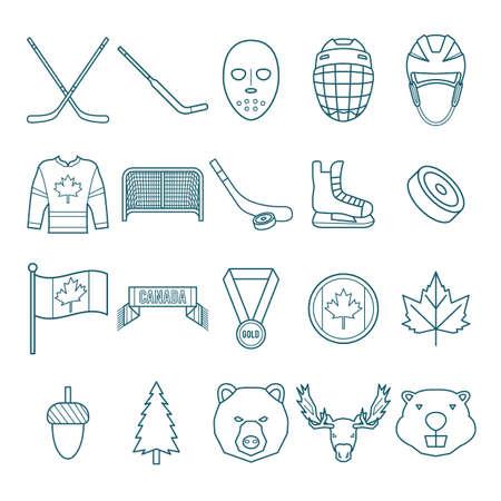 canada icon set Ilustracja