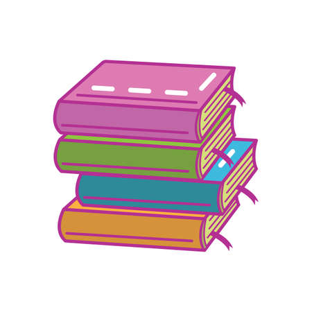 stack of books Illusztráció