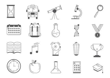 collection of education icons Ilustração