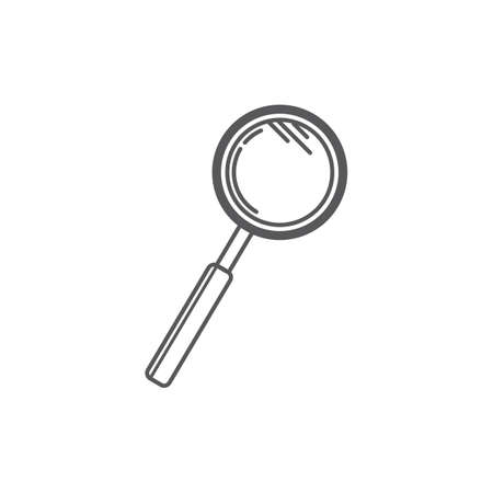 A magnifying glass illustration. Ilustrace