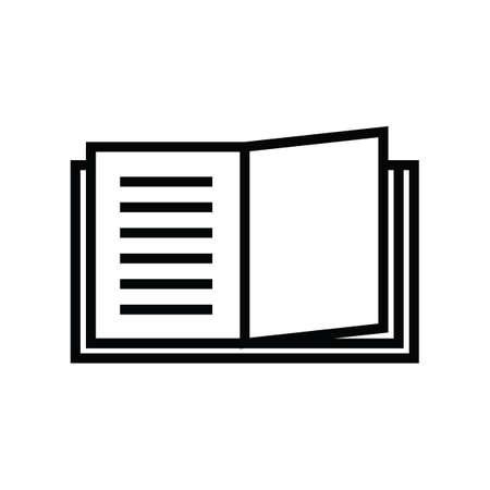 Une illustration de livre ouverte. Banque d'images - 81484561