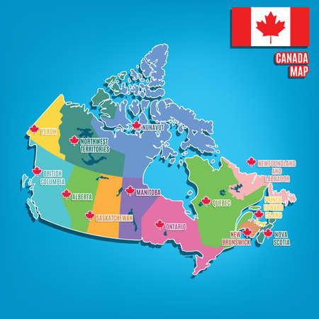 캐나다지도 스톡 콘텐츠 - 81534948