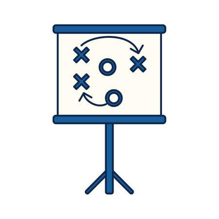 projector scherm met strategisch plan Stock Illustratie