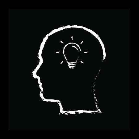 human head with bulb