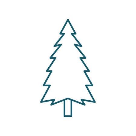 松の木のイラスト。  イラスト・ベクター素材