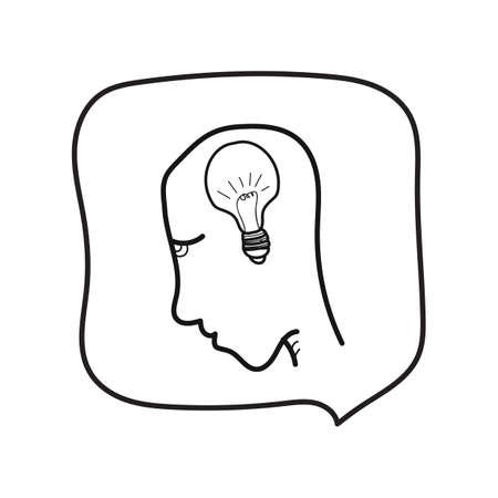 human with bulb Illustration
