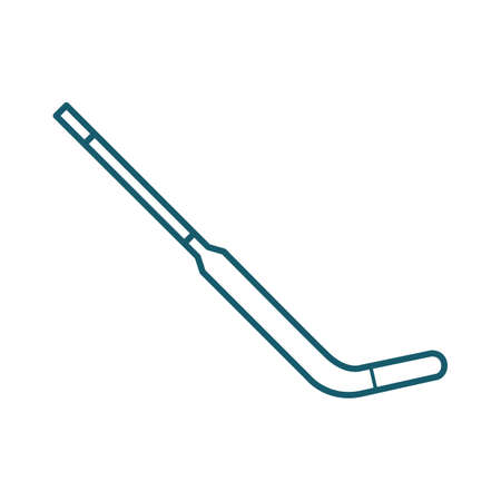 A goalie stick illustration. Illustration