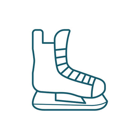 An ice skate illustration. Stock fotó - 81484562