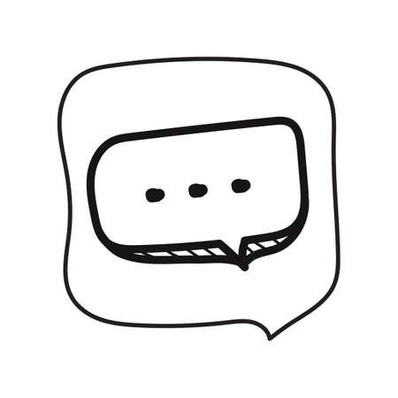 chat bubble Ilustrace