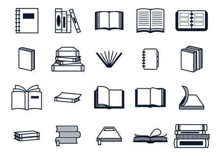 Una colección de ilustración de libros.