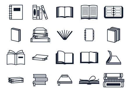 A collection of books illustration.