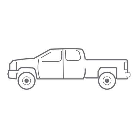 Conception de voiture de ramassage Banque d'images - 81534653