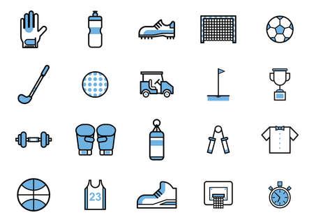 Collection d'icônes de sport Banque d'images - 81483850