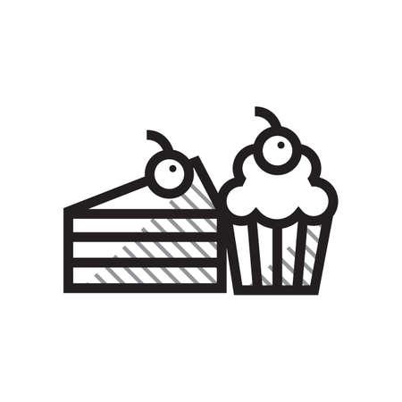 ケーキやお菓子のイラスト。  イラスト・ベクター素材