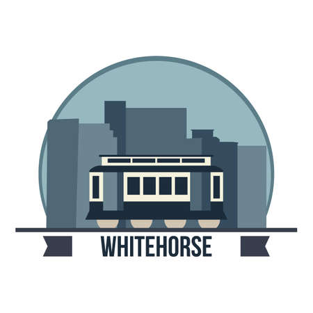 whitehorse waterfront trolley Illustration