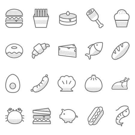 Collection of food icons Imagens - 81534956