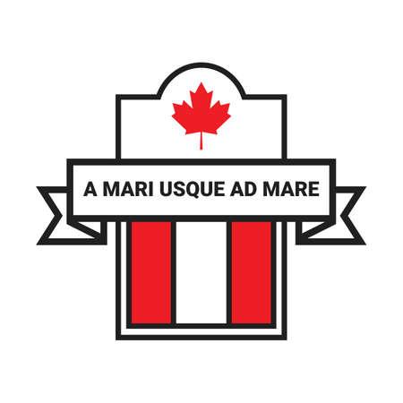 canada label Reklamní fotografie - 106667512