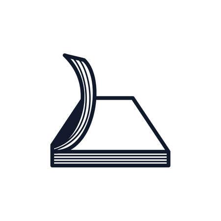 An open book illustration. Illustration