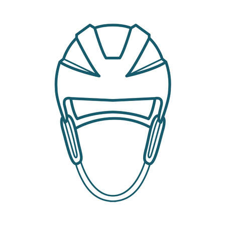 A hockey helmet illustration.