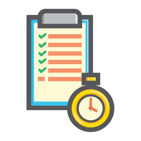 Checklist en timer