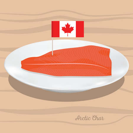 A arctic char illustration.