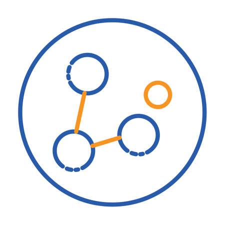 A molecule illustration. Stock Vector - 81484605