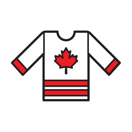 A hockey jersey illustration.