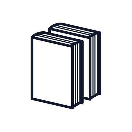 Una ilustración de libros. Foto de archivo - 81484612