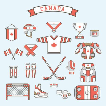 canada icon set Иллюстрация