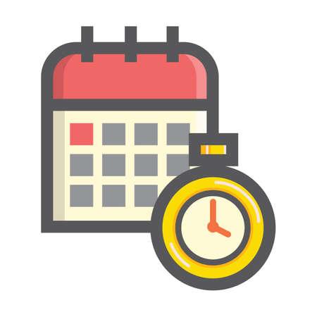 カレンダーとタイマー  イラスト・ベクター素材