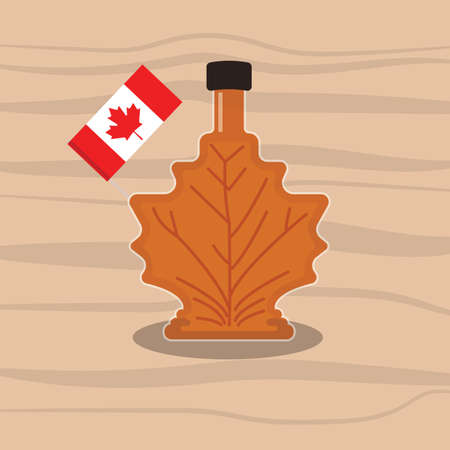 toothpick: A canadian maple whisky illustration. Illustration