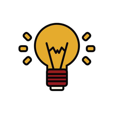 電球のイラストです。