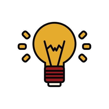 A bulb illustration. Çizim