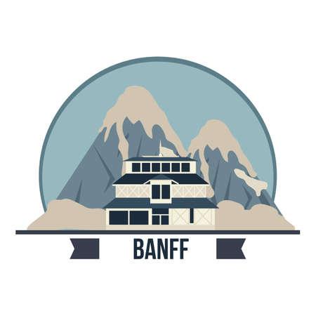 Ein banff springs hotel illustration. Standard-Bild - 81484619