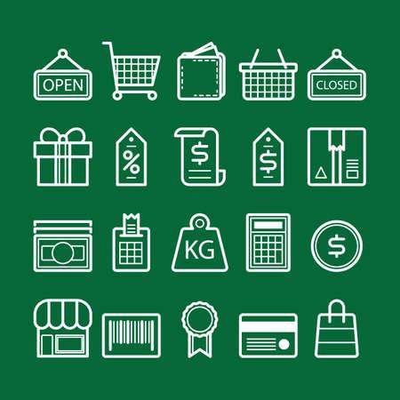 verzameling van winkelen pictogrammen