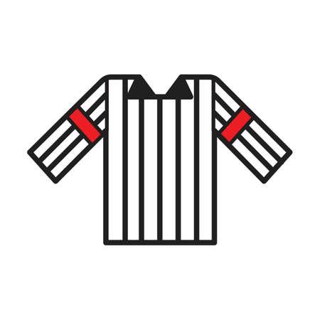 Una ilustración de camiseta de árbitro. Foto de archivo - 81484620