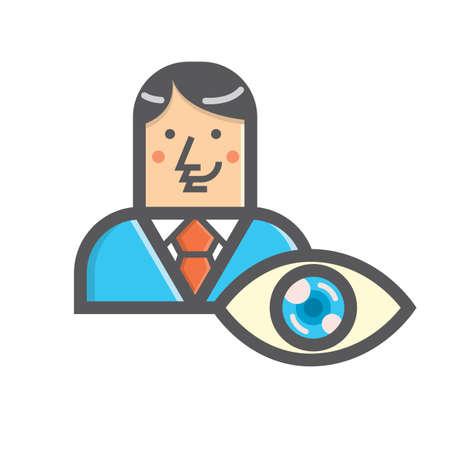 Businessman and eye