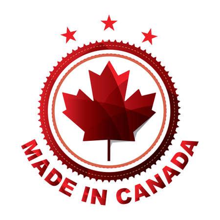 made in canada design Иллюстрация