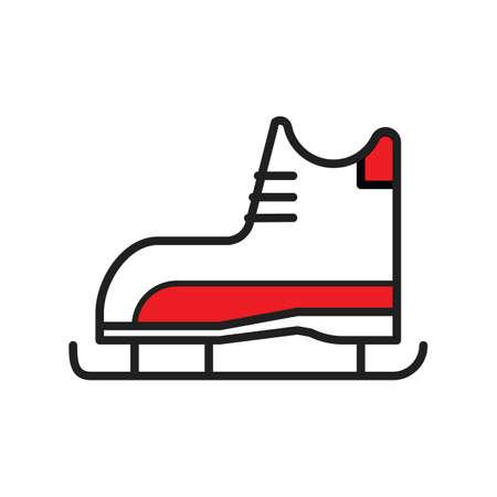 아이스 스케이트 그림입니다. 스톡 콘텐츠 - 81484629