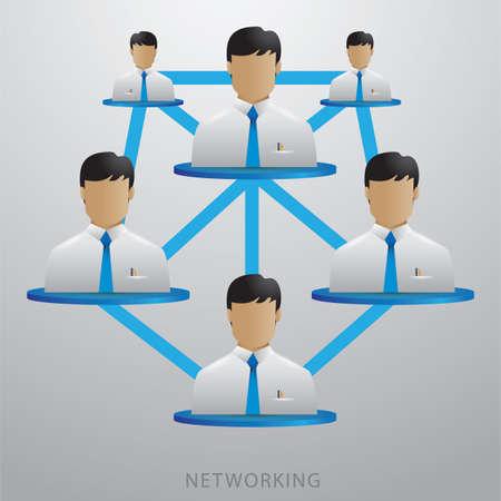 ネットワー キング  イラスト・ベクター素材