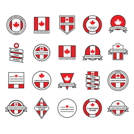 collection of canada labels