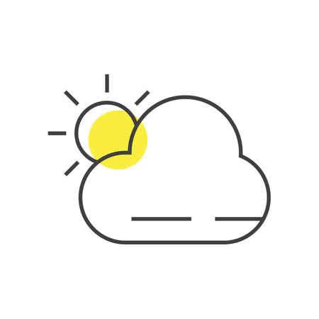 A sun with cloud illustration. Иллюстрация