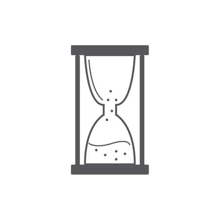 A hourglass illustration. Çizim