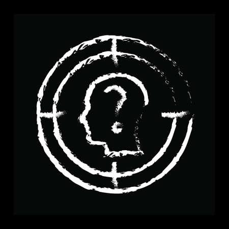 Concept d'audience cible Banque d'images - 81535001