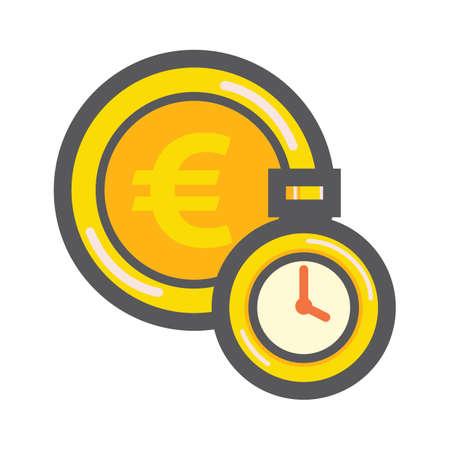 Euro y temporizador Foto de archivo - 81535006
